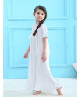 Girls long sleeved cotton pajamas for spring comfy...