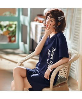 100 cotton new ladies' cartoon pajamas and onesies for summer short sleeve cute one-piece sleepwear for women