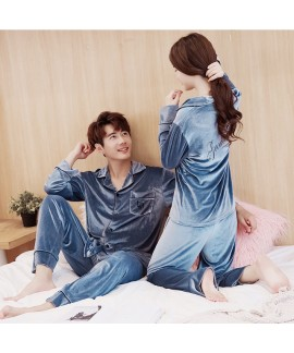 Winter New Golden Velvet pajamas for Men and Women
