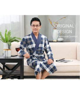 Mens 100% Cotton Knited Robes Plus Size Nightdress...