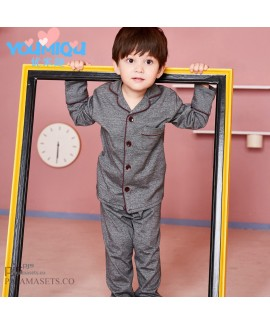 Long sleeve children's pure cotton pajama sets for...