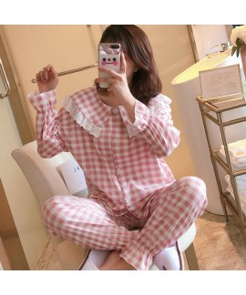 Autumn and winter new long sleeve pajamas women's ...